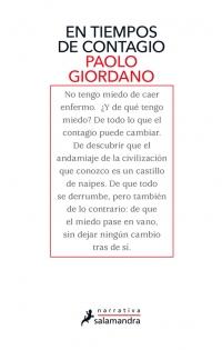 megustaleer - En tiempos de contagio - Paolo Giordano