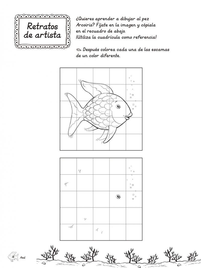 Juega con el pez Arcoíris (El pez Arcoíris. Actividades) - Megustaleer