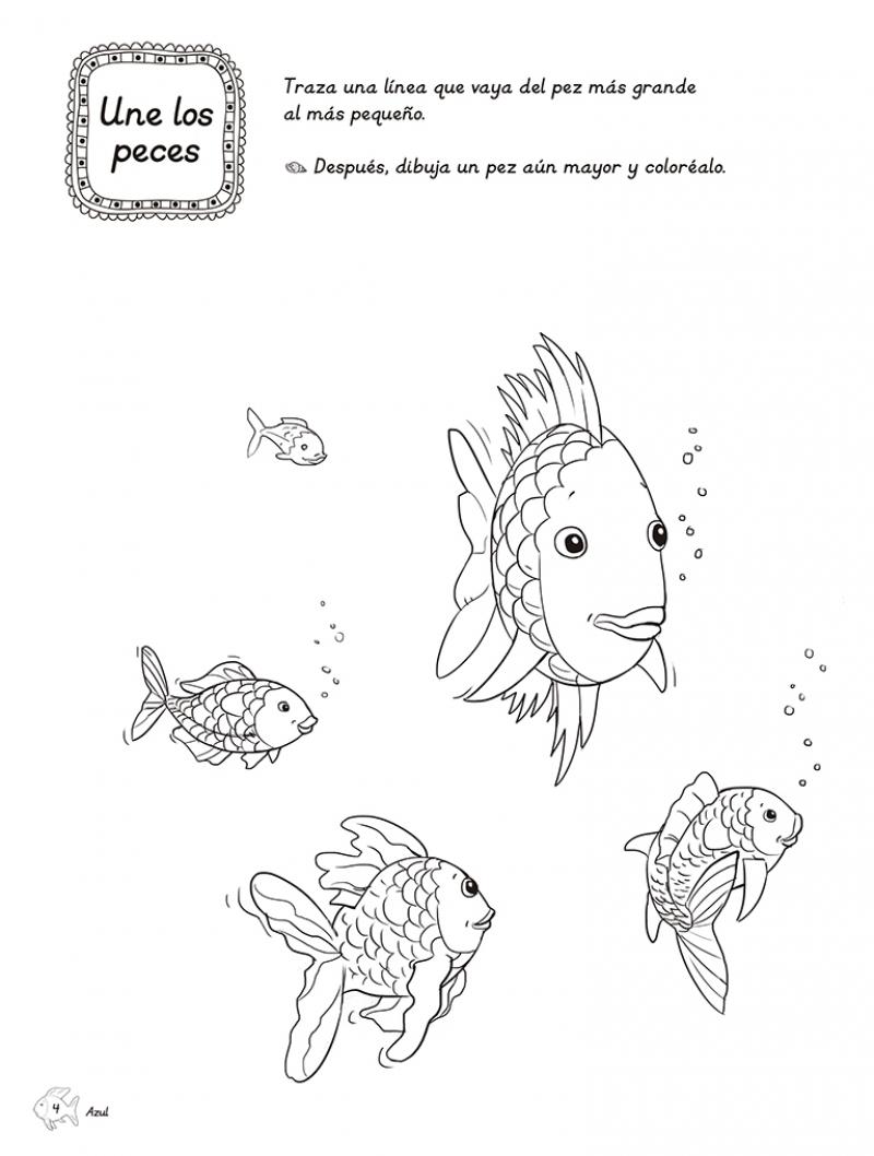 Lujoso La Página Para Colorear De Peces Arcoiris Fotos - Dibujos ...