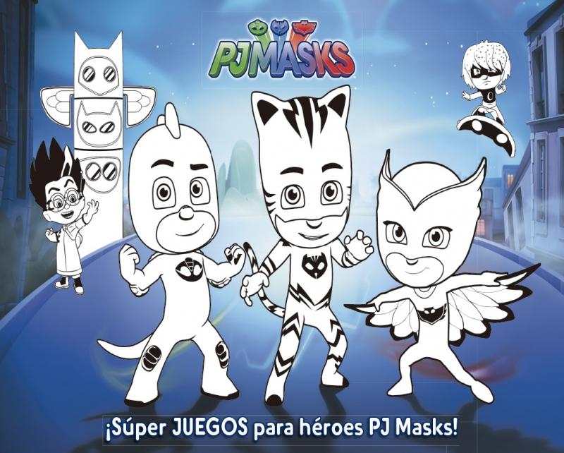 Súper Juegos Para Héroes Pj Masks Cuad Actividades Pj