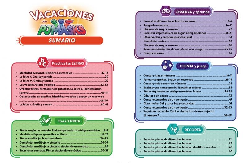 PJ Masks. Cuaderno de vacaciones - 4 años (Cuadernos de